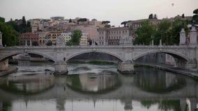 Brug in Rome, Italië stock video