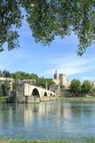 Brug st-Benezet in Avignon, Frankrijk Stock Foto