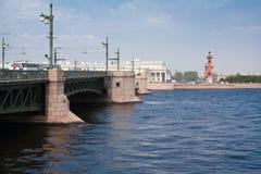 Brug in St. Petersburg Royalty-vrije Stock Foto's