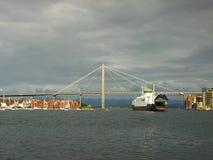 Brug in Stavanger Stock Afbeelding