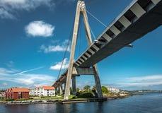 Brug in Stavanger, Noorwegen Stock Foto's