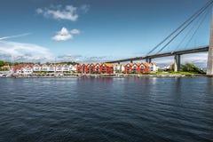 Brug in Stavanger, Noorwegen Royalty-vrije Stock Foto's