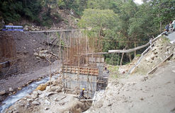 Brug in Tang Valley, Bhutan Stock Foto