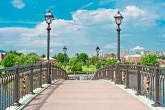 Brug in Tsaritsino Park, Moskou Royalty-vrije Stock Foto