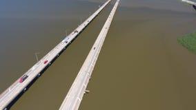 Brug 10 tusen staten over Mobiele Baai, Alabama Stock Afbeeldingen