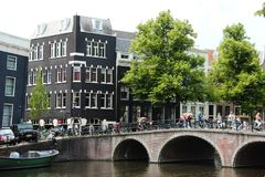 Brug van Amsterdam Royalty-vrije Stock Foto