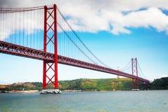 Brug van 25 April, Lissabon Stock Fotografie
