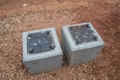 Brug van de de steunpijp van de bouwgrondplaat de concrete Royalty-vrije Stock Fotografie