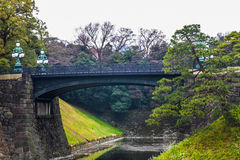 Brug van de het paleissteen van Tokyo de Keizer | Aziatische reis in Japan op 31 Maart, 2017 Royalty-vrije Stock Afbeeldingen
