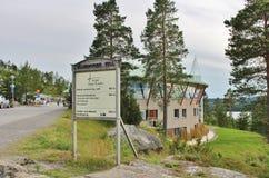 Brug van de hotel de Hoge Kust Stock Foto