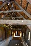 Brug van de middeleeuwse versterkte kerk Biertan, Transsylvanië stock afbeeldingen