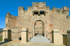 Brug van het Kasteel van Javier, Navarra Royalty-vrije Stock Foto's