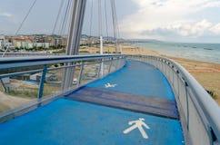 Brug van het Overzees, iconisch oriëntatiepunt in Pescara, Italië stock afbeelding