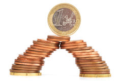 Brug van muntstukken Royalty-vrije Stock Afbeeldingen