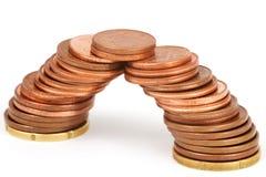 Brug van muntstukken Royalty-vrije Stock Fotografie
