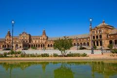 Brug van Plaza DE Espa? a, Sevilla, Spanje Stock Foto