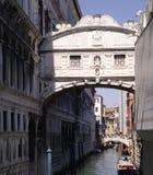 Brug van Sighs dei Sospiri, Italië van Ponte Stock Afbeeldingen