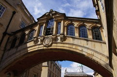 Brug van Sighs in Oxford Stock Foto's