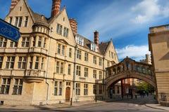 Brug van Sighs. Oxford, Engeland royalty-vrije stock afbeelding