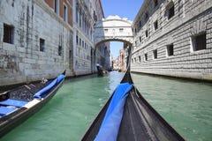 Brug van Sighs, Venetië (Italië) Royalty-vrije Stock Afbeeldingen