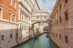 Brug van sighs in Venetië, Italië royalty-vrije stock foto