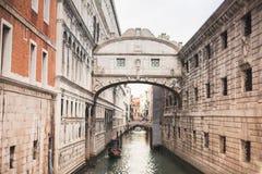 Brug van Sighs, Veneti?, Itali? stock foto's