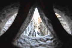 Brug van teken, in Venetië, Italië Royalty-vrije Stock Afbeelding