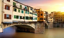 Brug Vecchio in Florence royalty-vrije stock foto
