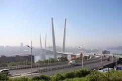Brug in Vladivostok Royalty-vrije Stock Afbeeldingen