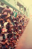 Brug in Woclaw-stad, Polen Stock Foto's