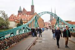 Brug in wroclaw, Polen royalty-vrije stock fotografie