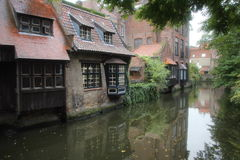 Bruge Canal Reflections Royalty Free Stock Photo