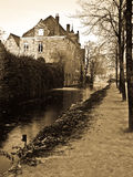 Bruge old buildings Royalty Free Stock Photos