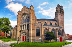 Bruges - Świątobliwy wybawiciela ` s Katedralny Sint-Salvatorskathedraal, Zdjęcia Stock