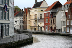 Bruges. Canal with historic houses in Bruges, Belgium royalty free stock images