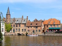 Bruges. Historic canals of Bruges, Belgium Stock Photo