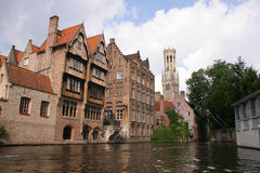 Bruges. Belgium, viewed from the canal Stock Image