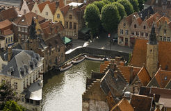 Bruges from above. A shot of Bruges, Belgium Royalty Free Stock Image