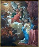 Bruges - The Annunciation paint by Jan van den Kerckhove 1707  in st. Jocobs church (Jakobskerk) Royalty Free Stock Images