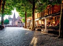 001-19 Bruges au coucher du soleil photo libre de droits