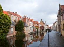 Bruges at autumn, Belgium Stock Photography