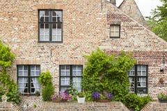 Bruges Begijnhof domy Obraz Royalty Free