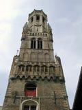 Bruges - Belfort torn Arkivfoto