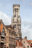 Bruges Belfry Clock Tower Belgium Stock Photo