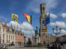 Bruges Belfry Clock Tower Belgium Royalty Free Stock Photography