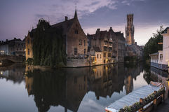 Bruges Belfry in the Evening Royalty Free Stock Photo