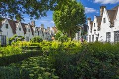 Bruges Belgia Begijnhof De Muelenaere Obraz Royalty Free