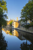 Bruges Belgia kanału budynki Fotografia Royalty Free