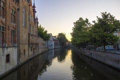 Bruges Belgia kanału budynki zdjęcie stock