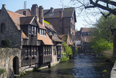 Bruges Belgio Fotografie Stock Libere da Diritti